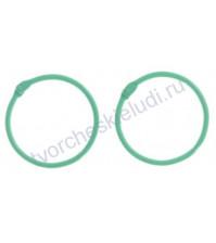 Кольца для альбомов, 2 шт, цвет светло- зелёный, 45 мм