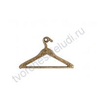 Подвеска металлическая Вешалка для одежды, 24х42 мм, цвет бронза