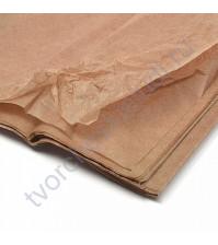Бумага тишью, цвет молочный шоколад, размер 50х76 см