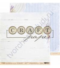 Бумага для скрапбукинга двусторонняя коллекция Прованс, 30.5х30.5 см, 190 гр/м, лист Мой букет