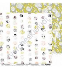 Бумага для скрапбукинга двусторонняя 30.5х30.5 см, 190 гр/м, коллекция Мир в облаках, лист Цветы на закате