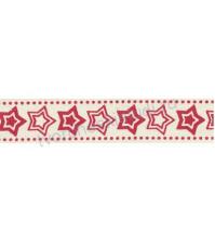Тесьма декоративная хлопковая Звездочки, ширина 16 мм, 1 метр