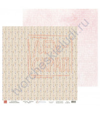 Бумага для скрапбукинга, 30.5х30.5 см, плотность 190 гр/м2, коллекция Потешки, лист Игрушки