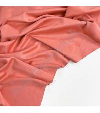 Искусственная замша двусторонняя, плотность 260 г/м2, размер 50х70 см (+/- 2см), цвет коралловый
