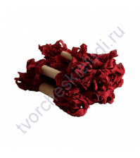 Шебби-лента мятая, Винный красный, ширина 14мм, 1 метр