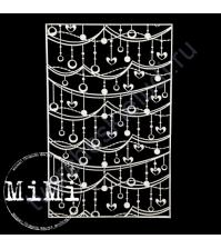 Чипборд Набор Гирлянда, коллекция Фоны, 10х15 см
