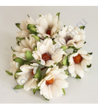 Ромашки белый, 4 см, 5 шт