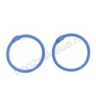 Кольца для альбомов, 2 шт, цвет синий, 3 см