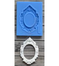 Форма силиконовая (молд) для полимерной глины, Рамка в стиле барокко мини