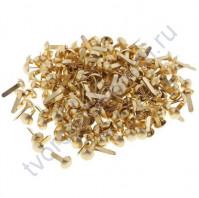 Набор брадсов 4.5х8 мм, 10 шт, цвет золото
