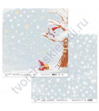 Бумага для скрапбукинга двусторонняя коллекция Новогодние хлопоты, 30.5х30.5 см, 190 гр/м, лист 5
