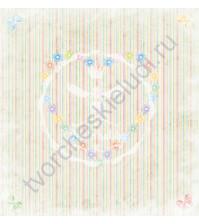 Бумага для скрапбукинга односторонняя коллекция Малыши, 30.5х30.5 см, 190 гр/м, 7402001