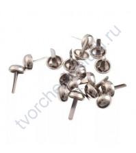 Набор брадсов 6х10 мм, 10 шт, цвет серебро