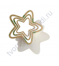 Набор шейкеров Звезда округлые лучи, 3 элемента, толщ. 2 мм, цвет молочный