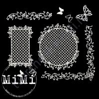Набор чипборда Решётки, коллекция Резная, размер 10х15см