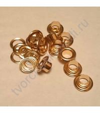 Набор люверсов с шайбой, 4.8х9 мм, упаковка 50 шт., цвет золото