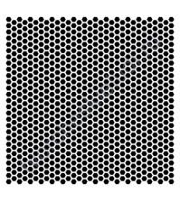 Трафарет пластиковый многоразовый Мини-соты, 15.2х15.2 см, толщ. 0.15 мм