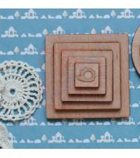 Набор квадратных шейкеров из шпона бука Потешки. Ежик, 5 элементов