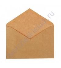 Конверт крафтовый с треугольным клапаном С6 (114х162мм), плотность 90г/м2