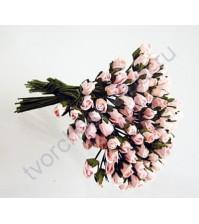 Бутоны роз маленькие 5 шт, цвет розовоперсиковый