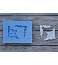 Форма силиконовая (молд) для полимерной глины, Комплект из двух уголков 2х2