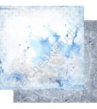 Бумага для скрапбукинга двусторонняя, коллекция Зимняя тайна, лист 002
