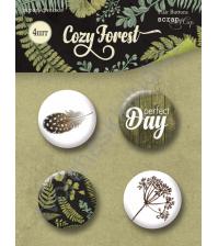 Набор фишек из металла Cozy Forest, 4 штуки