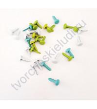 Набор брадсов Оттенки небосвода 4.5х8 мм, 30 шт, цвет бело-голубой микс