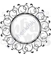 ФП печать (штамп) Рамочка. Рамка круглая ажурная, 4х4 см