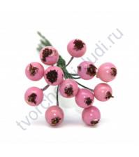 Букетик декоративный Ягоды, 12 штук, цвет розовый