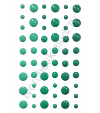 Эмалевые точки (дотс) 54 шт, бирюзово-мятный микс