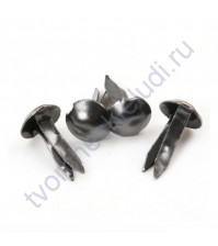 Набор брадсов 5х10 мм, 10 шт, цвет темный никель