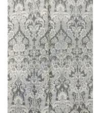 Ткань для рукоделия 50х100см, 100% хлопок, цвет серый орнамент