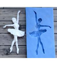 Форма силиконовая (молд) для полимерной глины, Фигурка балерины-2