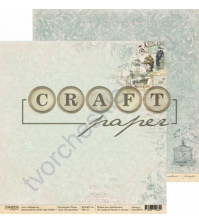 Бумага для скрапбукинга двусторонняя 30.5х30.5 см, 190 гр/м, коллекция Ретро, лист Из прошлого