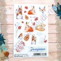 Набор декоративных наклеек Снежная клюква, размер 10х15 см