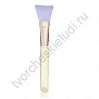 Кисточка силиконовая для клея широкая, цвет ручки в ассортименте