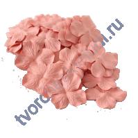 Лепестки гортензии большие 5 см, 10 шт, цвет розовоперсиковый темный