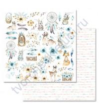 Бумага для скрапбукинга двусторонняя 30.5х30.5 см, 190 гр/м, коллекция Этника. Детская, лист Картинки
