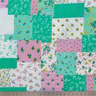 Ткань для рукоделия 100% хлопок, плотность 120г/м2, размер 55х50см (+/- 2см), цвет Лоскутное шитье