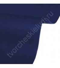 Кожзам переплетный на полиуретановой основе плотность 230 гр/м2, 50х35 см, цвет 4701-темно-синий