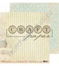Бумага для скрапбукинга двусторонняя коллекция Bon Voyage, 30.5х30.5 см, 190 гр/м, лист Воздушный шар