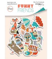 Набор высечек (вырубок) Funny Friends, плотность 250 гр/м, 57 элементов