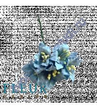 Цветы Лилии голубые, размер цветка 3.75 см, 5 шт