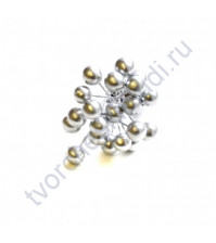 Ягодки 8 мм, 10 ягодок, цвет серебро