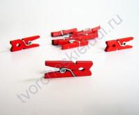 Прищепки деревянные Красные, 25 мм, 1 шт.