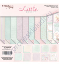 Набор двусторонней бумаги Little Bunny, 30.5х30.5 см, 190 гр/м, 10 листов