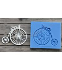 Форма силиконовая (молд) для полимерной глины, Ретро велосипед малый