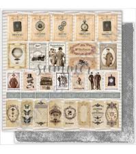 Бумага для скрапбукинга двусторонняя 30.5х30.5 см, 190 гр/м, коллекция Mens world, лист Cards