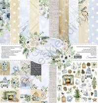 Набор двусторонней бумаги Snowy Flowers, 7 листов, 30.5х30.5 см